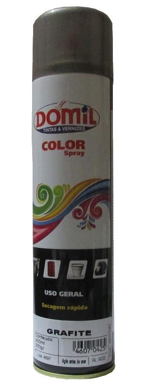 Tinta Spray - Grafite  - Uso Geral (400 ml) Domil