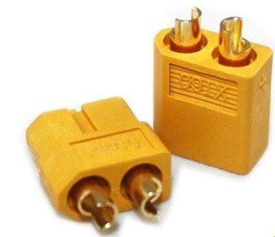 9572 - Plug Conector Xt60 Macho/Fêmea (par)