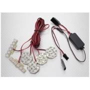 22324 - Kit de Iluminção 1/5 and 1/8 Off-Road LED Light Set with Functional Brake Lights