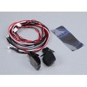 24059 - Espelho Retrovisor com LED para automodelo 1/10 (2pc)