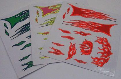 LHP-0516 - Cartela De Adesivos Decorativos Flamas