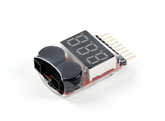 74024 - Indicador de Voltagem Bateria Lipo/LiFe/Li-ion Checker (2S~8S)