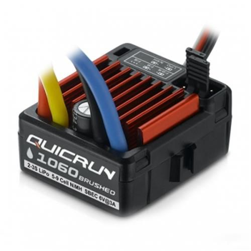 81500 - Esc Brushed 60A 2S-3S 1060 Waterproof Quicrun HobyWing