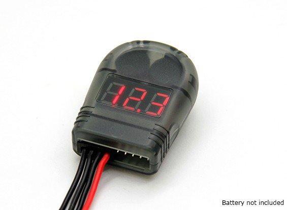 90757 - Indicador de Voltagem and Low Voltage Buzzer Alarm (2S-8S)
