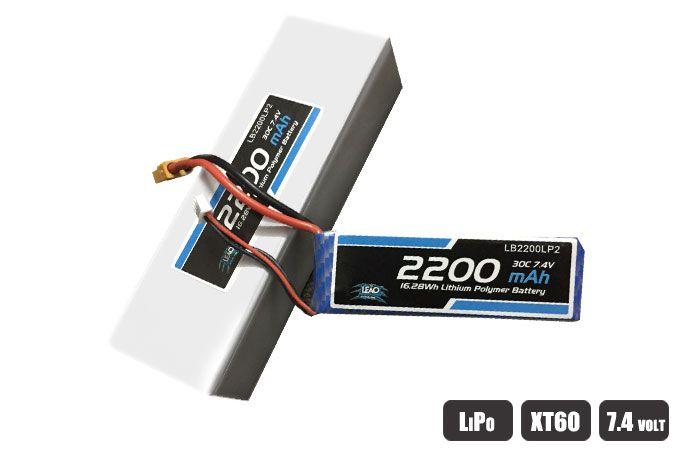 LB2200LP2 - Bateria Lipo - 7.4V - 2S - 2200mAh - 30C/60C - XT60