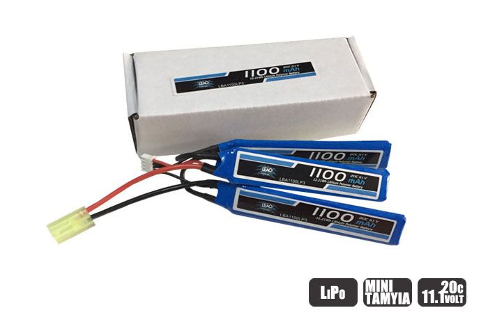 LBA1100LP3 - Bateria Lipo - 11.1V/3S(3 pack) - 1100mAh - 20C/40C-AIRSOFT