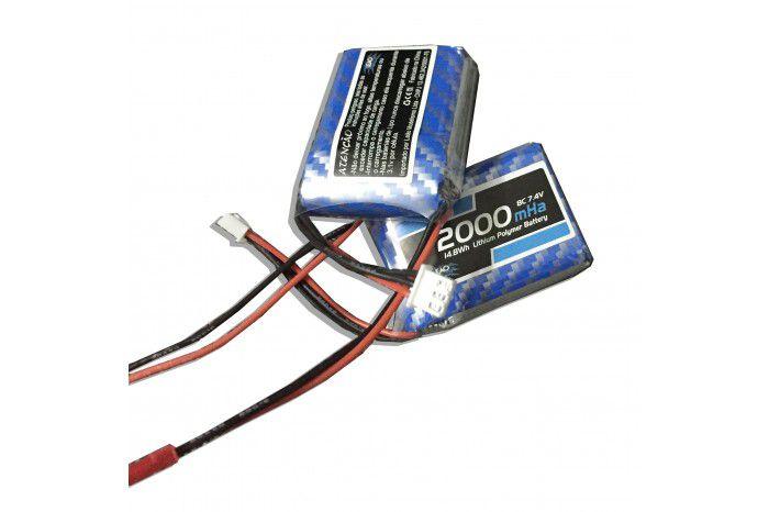 LBRX2000Q - Bateria - Lipo (RX) 7.4V 2S 8C 2000mAh