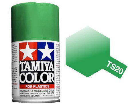 TS-20 - Tinta Spray Metálico Green Tamiya - 100ml