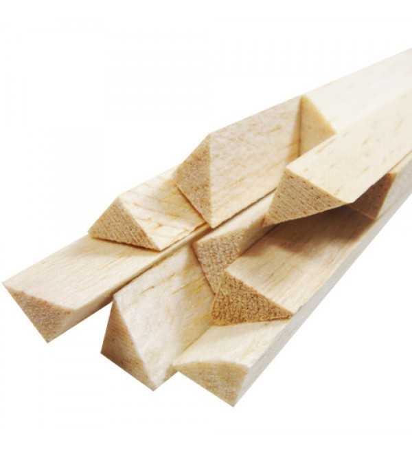 VT30 - Vareta Triangular Balsa 30mm​