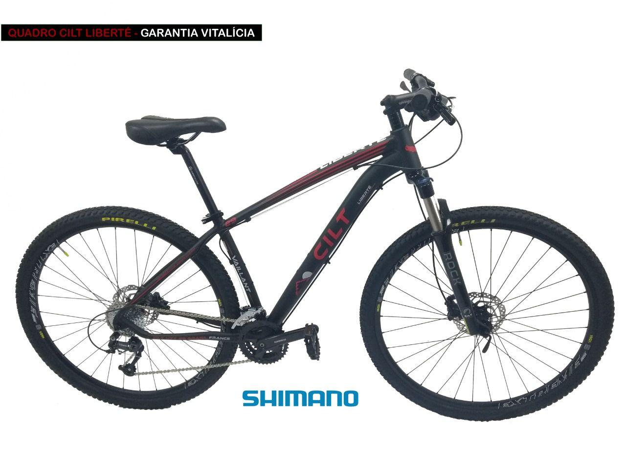 23251f0d1f2d0 Bicicleta aro 29 Cilt Liberté Shimano Deore 30v Freio Hidráulico trava  guidão L530