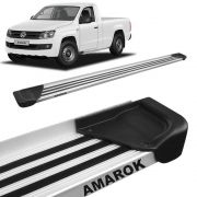 Estribo Lateral Amarok CS 2010 a 2020 Aluminio Natural A1