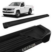 Estribo Lateral Amarok CS 2010 a 2020 Aluminio Preto A1