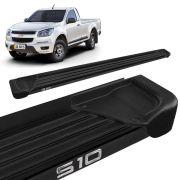 Estribo Lateral S10 CS 2012 a 2020 Aluminio Preto A1