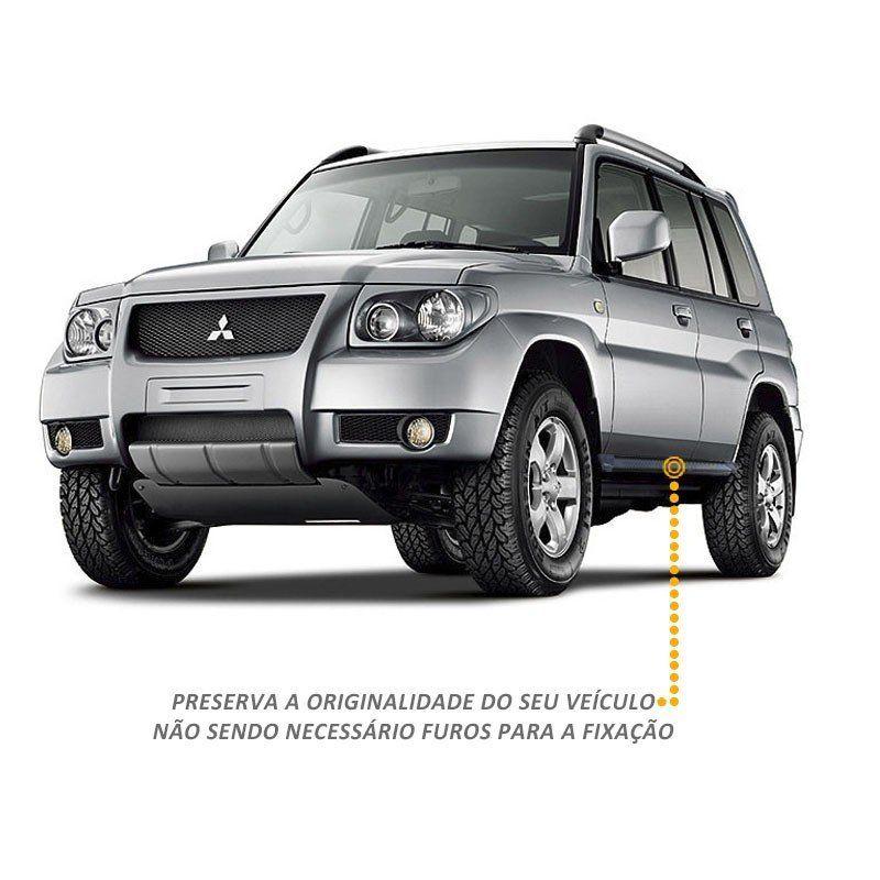 Estribo Lateral A3 Gtnox em Alumínio Preto para Pajero Tr4 2008 a 2015