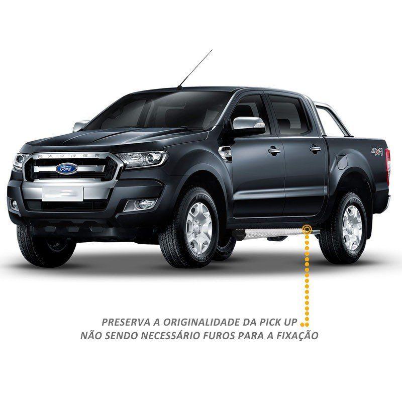 Estribo Ranger CD 2013 a 2018 em Alumínio Natural Modelo A3