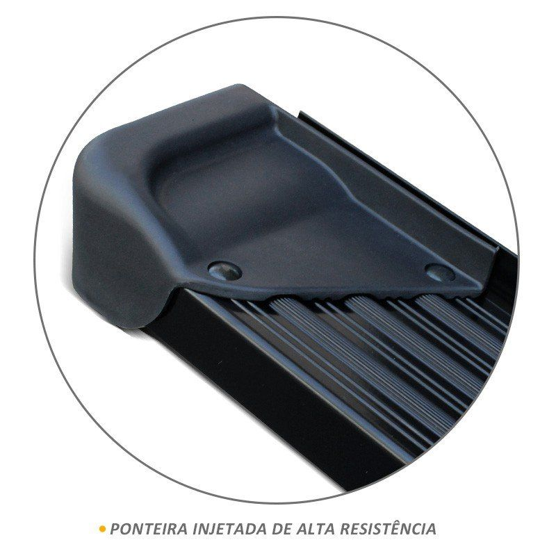 Estribo Lateral A3 Gtnox em Alumínio Preto para S10 CD 1995 a 2011