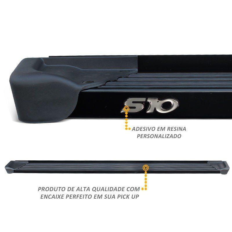 Estribo Lateral A3 Gtnox em Alumínio Preto para S10 CD 2012 a 2018