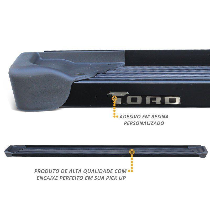 Estribo Lateral A3 Gtnox em Alumínio Preto para Toro 2016 a 2018
