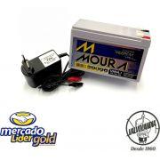 Bateria 12v 7ah Selada Moura Com Carregador