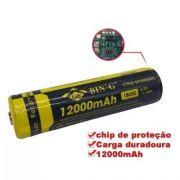 Bateria 18650 Com Chip De Protecao De 12000mah