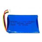 BATERIA 3,7V 650MAH LI-PO RECARREGAVEL (3x35x59mm) CONECTOR DF13-5S-1,25C COM PCM