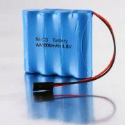 Bateria 4,8v 1000mah Aa Ni-cd Conector Futaba Recarregável