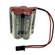 Bateria 6v Aa 2550mah Ni-mh - Eneloop Pro Conector Futaba Rc