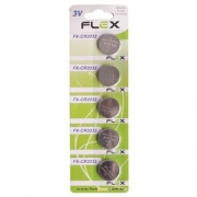 Bateria botão cartela c/ 5 unidades fx-cr2032 flex 3v