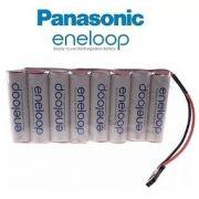 Bateria Futaba 9,6v Aa 2000mah Panasonic Eneloop Ni-mh 8xaa