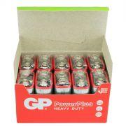 Bateria Pilha Gp Power Plus 9v Heavy Duty Caixa Com 10 Peças