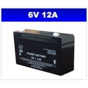 BATERIA SELADA 6V 12AH PLANET BATTERY