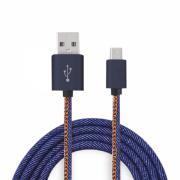 CABO DE DADOS USB MICRO USB V8 TURBO 3.0A 1 METRO JEANS