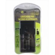 CARREGADOR DE PILHAS 26650 / 22650 / 18650 / 18500 FLEX - FX-C09