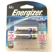 Pilha Aa 1,5v Ultimate Lithium Energizer - Carte C/ 2 Pilhas