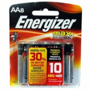 Pilha Alcalina Energizer Max AA Pequena Cartela C/8 Unidades