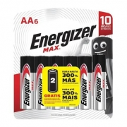 Pilha Alcalina Max AA6 Pequena Cartela C/6 Energizer