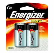 Pilha Energizer Max Média C Cartela c/ 2 unidades