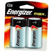 Pilha Grande D2 Max Alcalina D Cartela Com 2 Unidades - Energizer