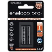 Pilha Recarregável Eneloop Pro Panasonic Palito AAA2 cartela com 2