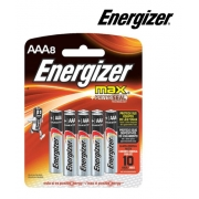 Pilhas Alcalina Palito AAA Energizer Max Power Cartela C/ 8 AAA8