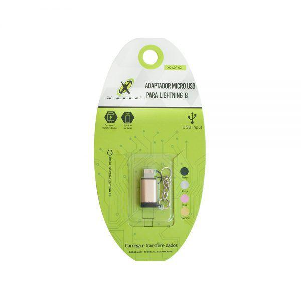ADAPTADOR CONECTOR MICRO USB P/ LIGHT 8 PINOS
