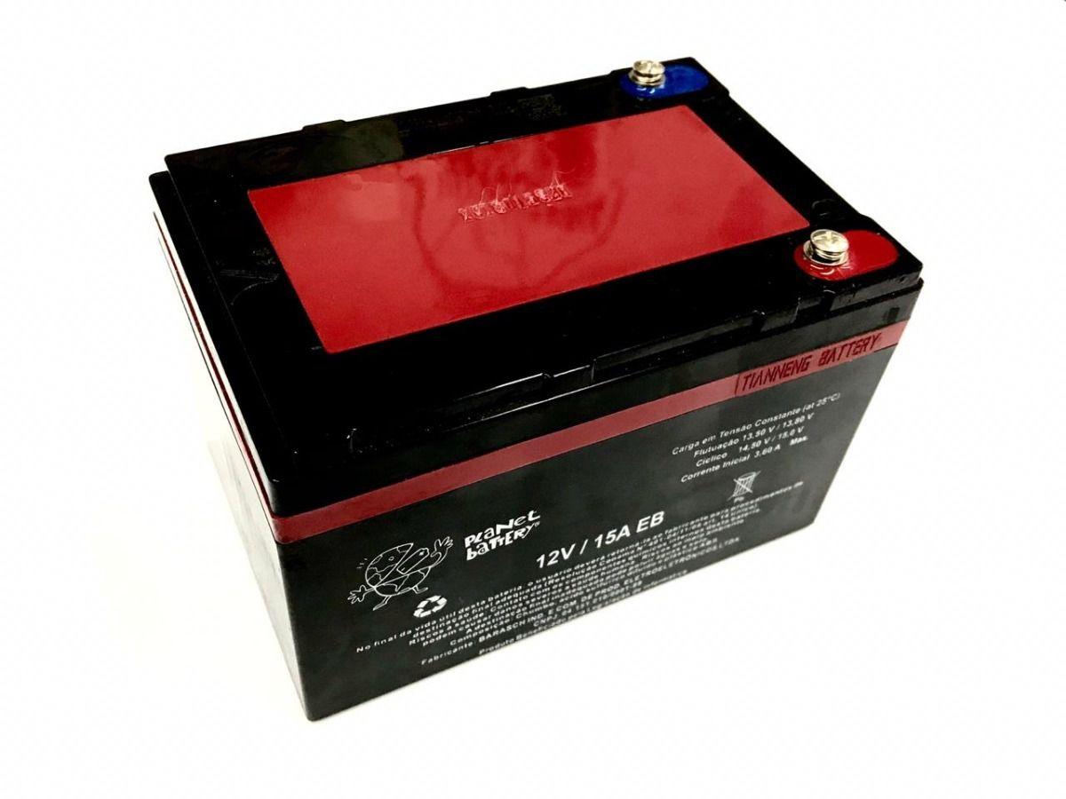 Bateria 12v 15ah Eb De Ciclo Profundo Planet Battery