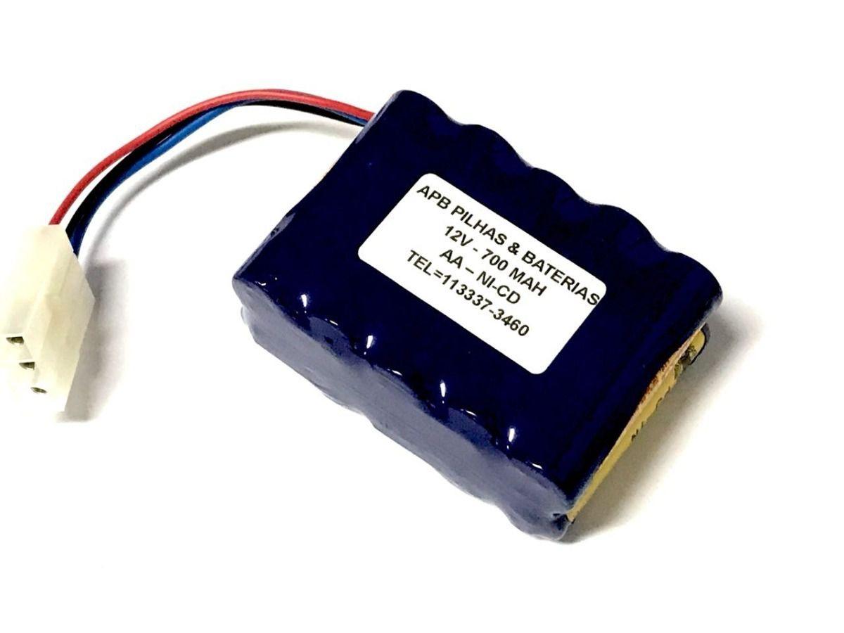 Bateria 12v 700mah Aa Ni-cd Conector 3 Fios