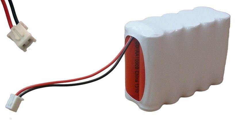 Bateria 12v Aa 1000mah Ni-cd Com 10 Células Aa E Conector