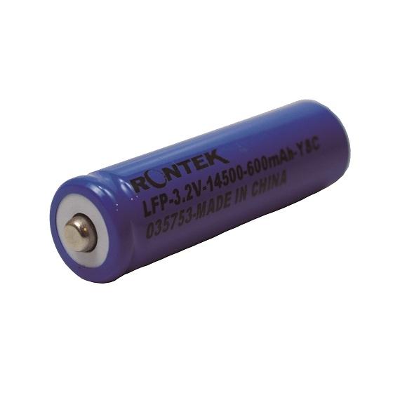 BATERIA 14500 3,2V RONTEK 600MAH LIFEPO4 3C