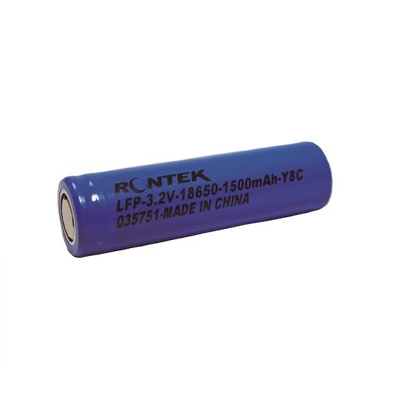 BATERIA 18650 3,2V RONTEK 1500MAH LIFEPO4 3C