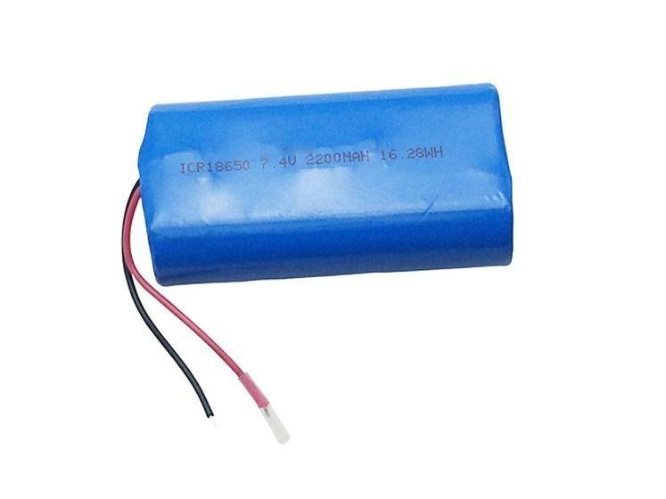 Bateria 18650 7,4v 2200mah Sanyo Com Fio