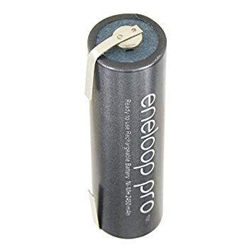 bateria 1,2v aa 2500mah com terminal panasonic eneloop pro