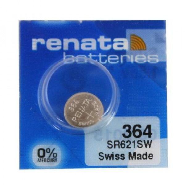 Bateria 364 De Óxido Prata Sr621sw Renata - 1 Unidade