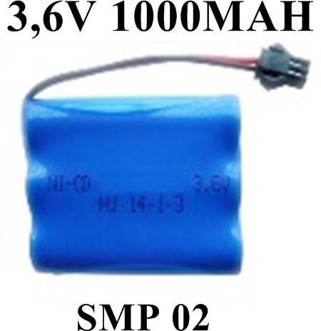 Bateria 3,6v 1000mah Aa Com Conector Smp 02